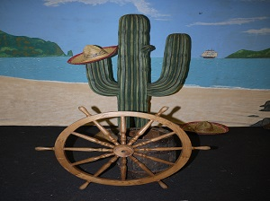 CACTI HAWAIIAN BACKDROP SAILORS WHEEL